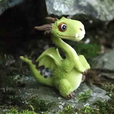 Mini Green Dragon Statue
