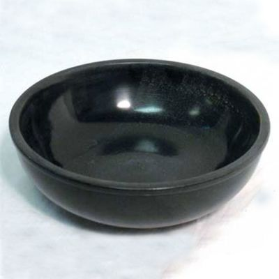 Black Scrying Bowl 6 in