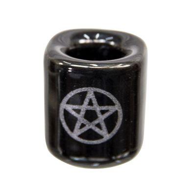 Black with Silver Pentacle Chime Holder