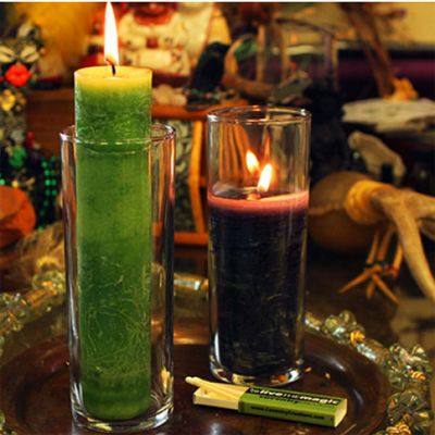 Blessed Herbal Pillar Candle Holder