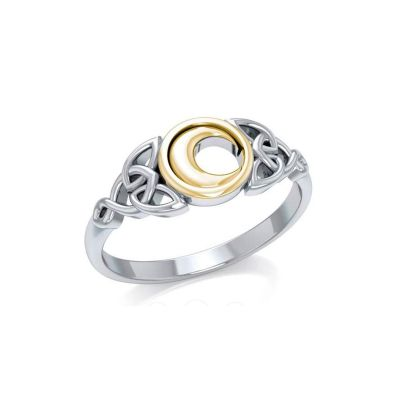 Celtic Moon Crescent Ring