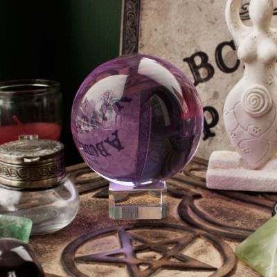 3 inch Purple Crystal Ball