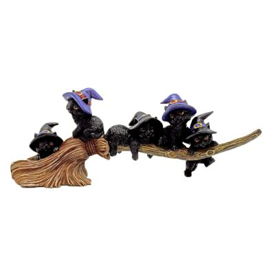 Magical Cats on Broom