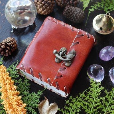 1842 Poetry Leather Journal, 3 1/4 x 4