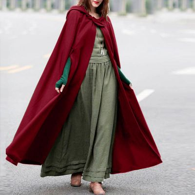 Red Hooded Cloak, Large