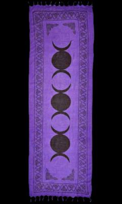 3 Triple Moon Altar Cloth/Sarong 22x68