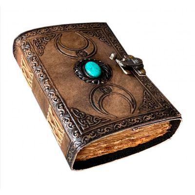 Triple Moon with Stone Journal