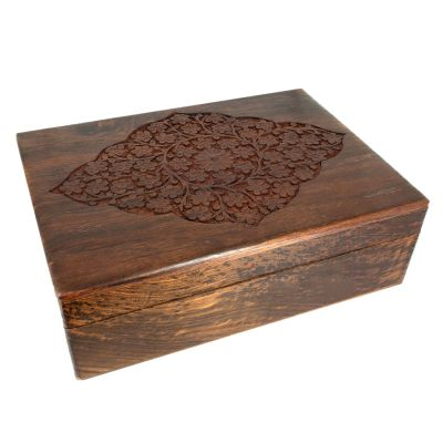 Carved Wood Box 8x11
