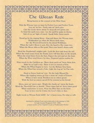Wiccan Rede Long Poster