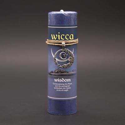 Wicca Wisdom Candle with Pendant