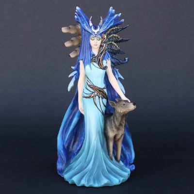 Goddess Hecate and Hounds Statue