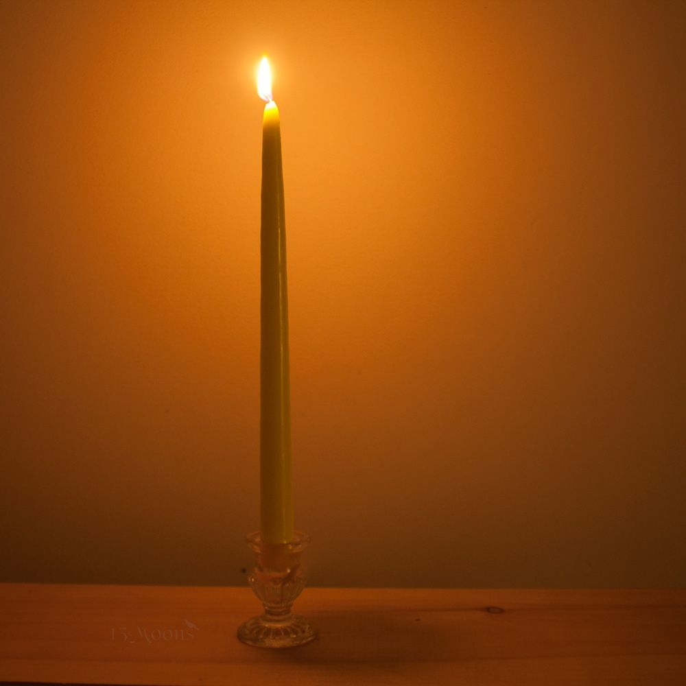 12 inch Taper Candle, Yellow