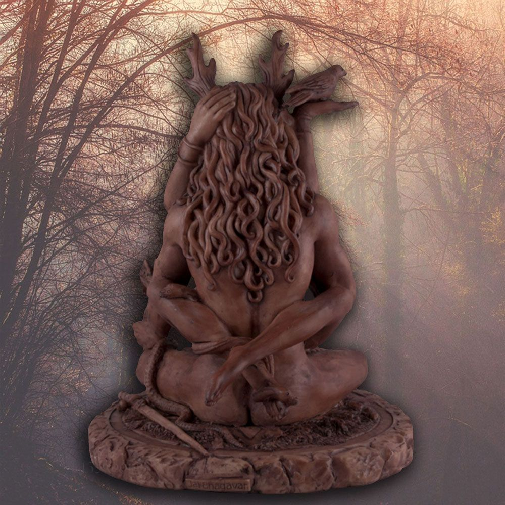 Forest God and Moon Goddess Statue