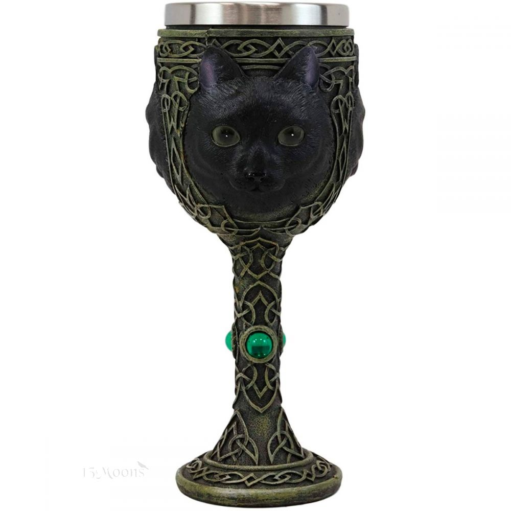 Witching Hour Cat Goblet