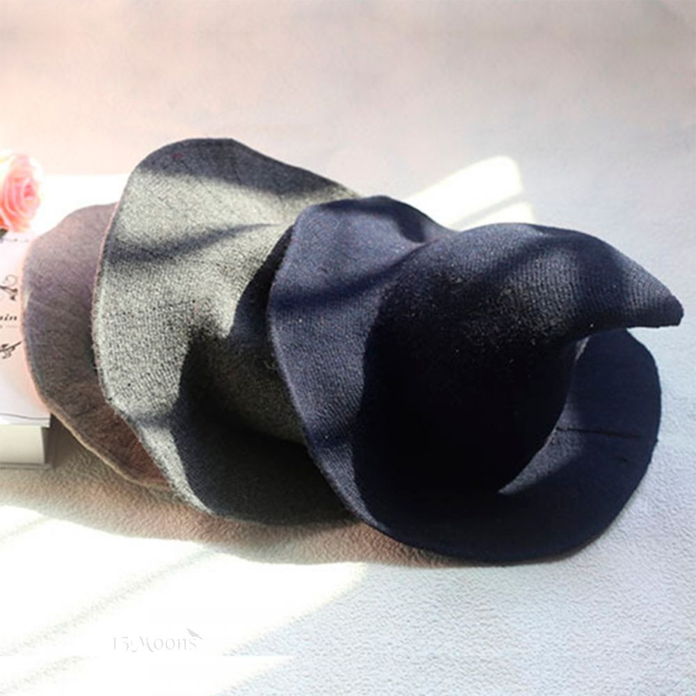 Grey Wool Witches Hat