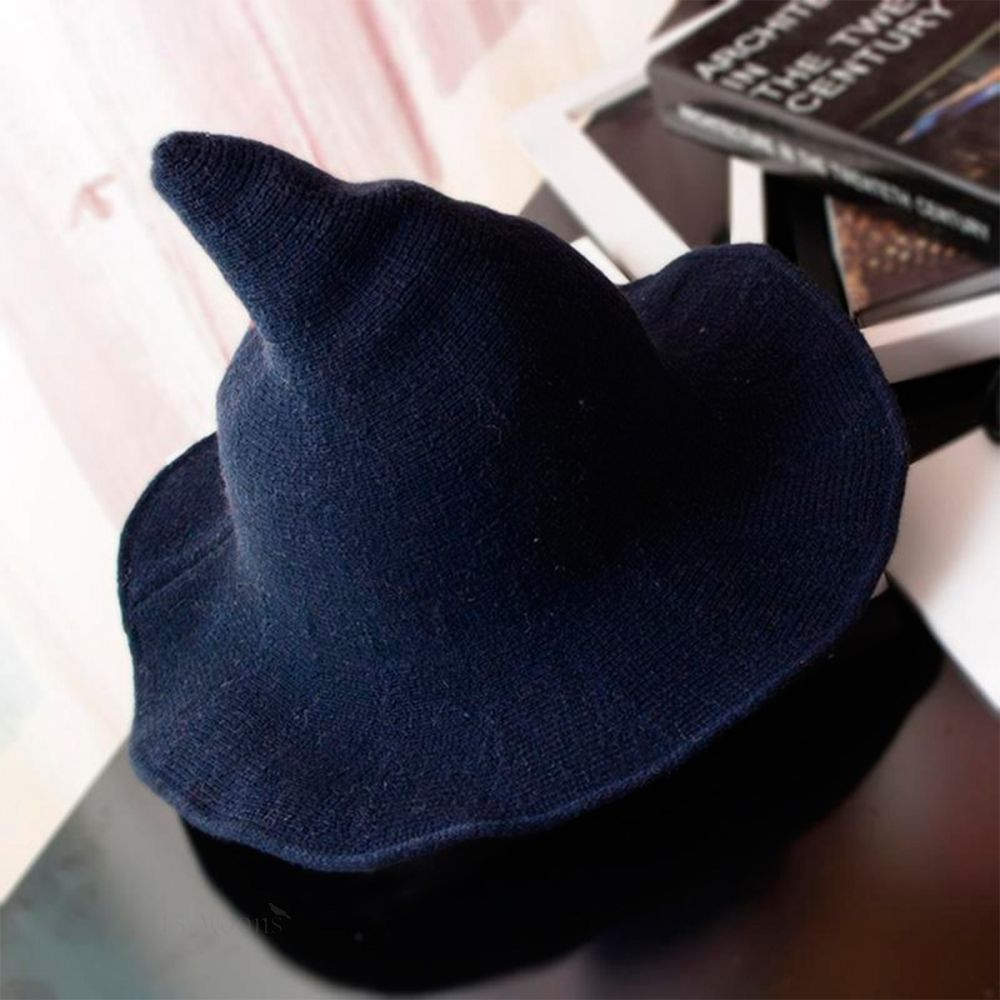 Blue Wool Witches Hat
