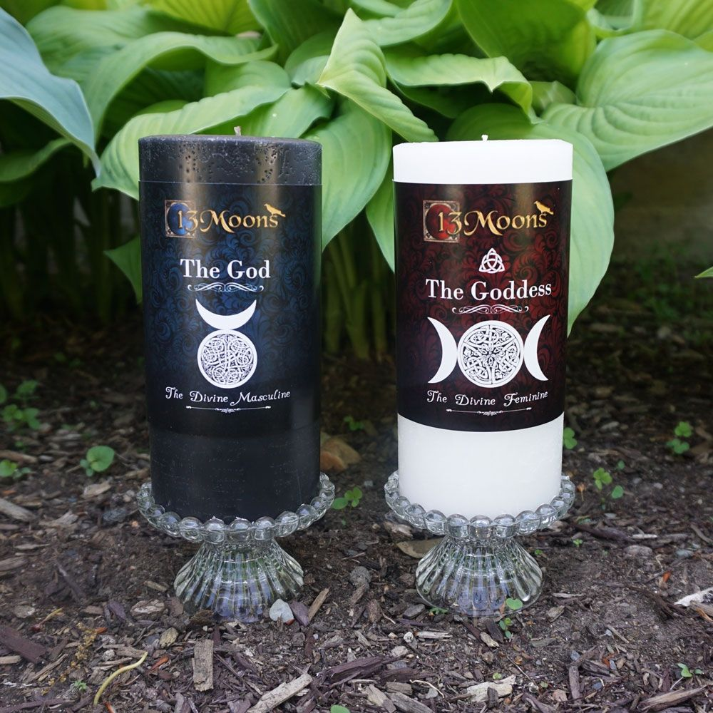 God and Goddess Altar Candle Set