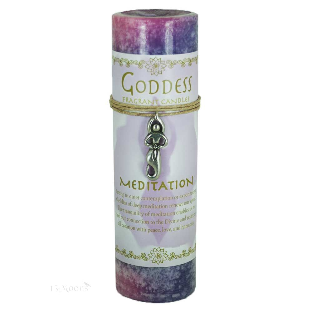 Goddess Meditation Candle with Pendant