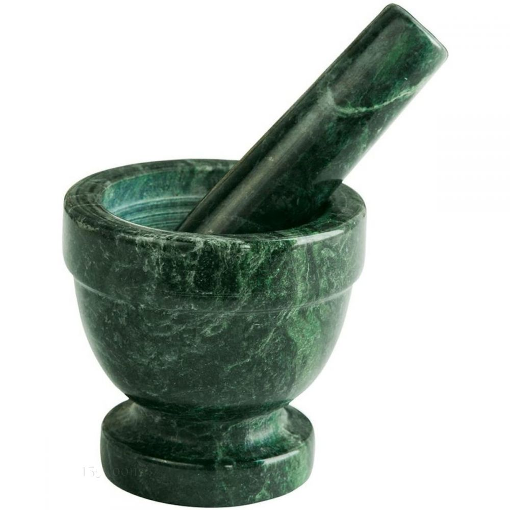 Green Marble Mortar and Pestle