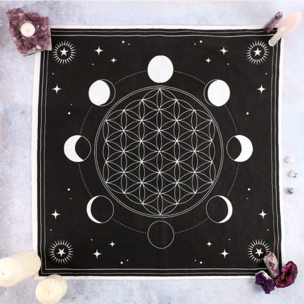 Moon Phase Altar Cloth 27.5 inches