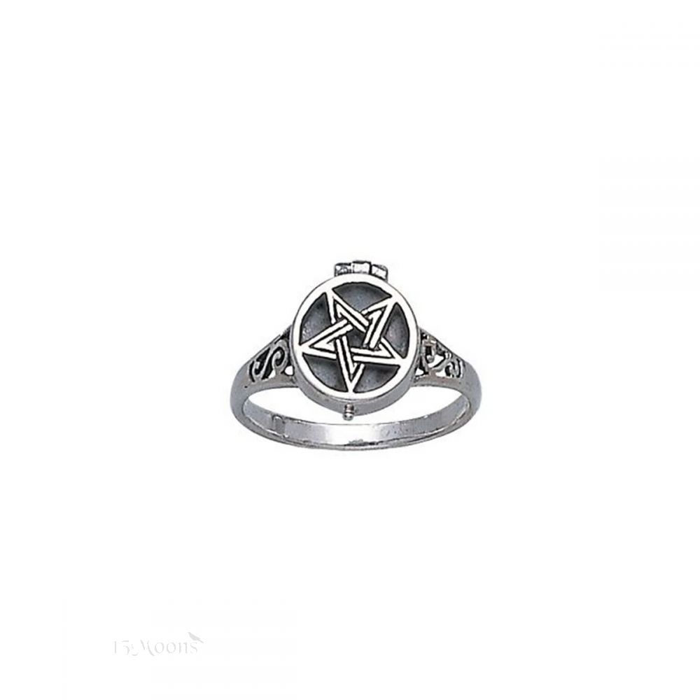 Pentacle Poison Ring