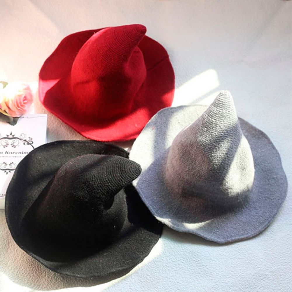 Black Wool Witches Hat
