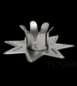 Silver 7 Point Star