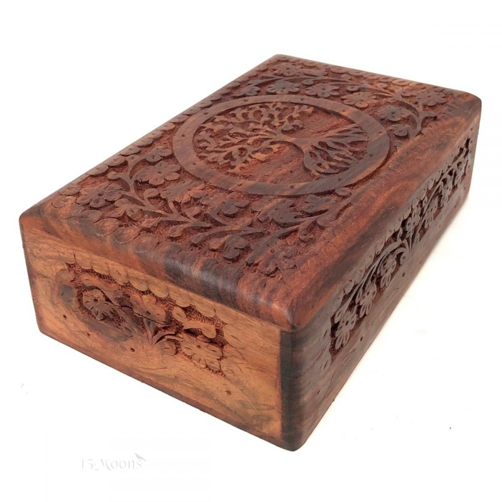 Tree of Life Elaborate Carved Box