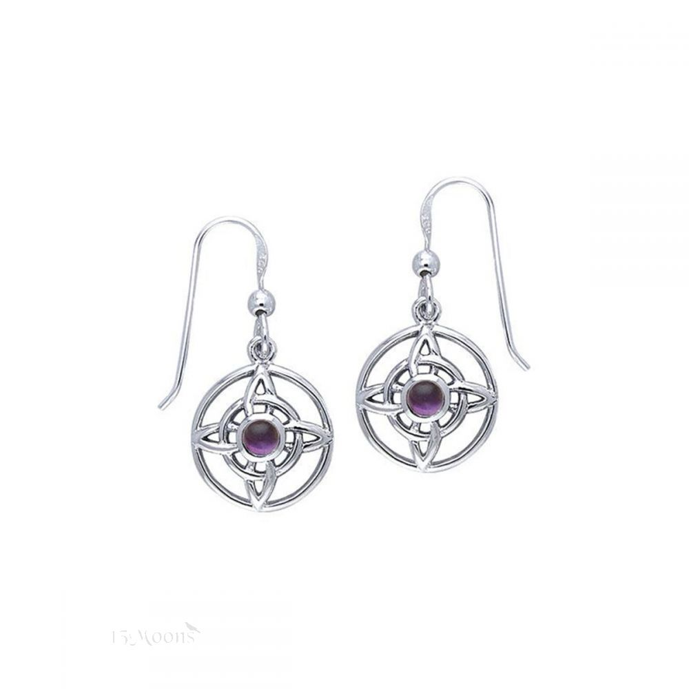 Witches Protection Earrings with Amethyst