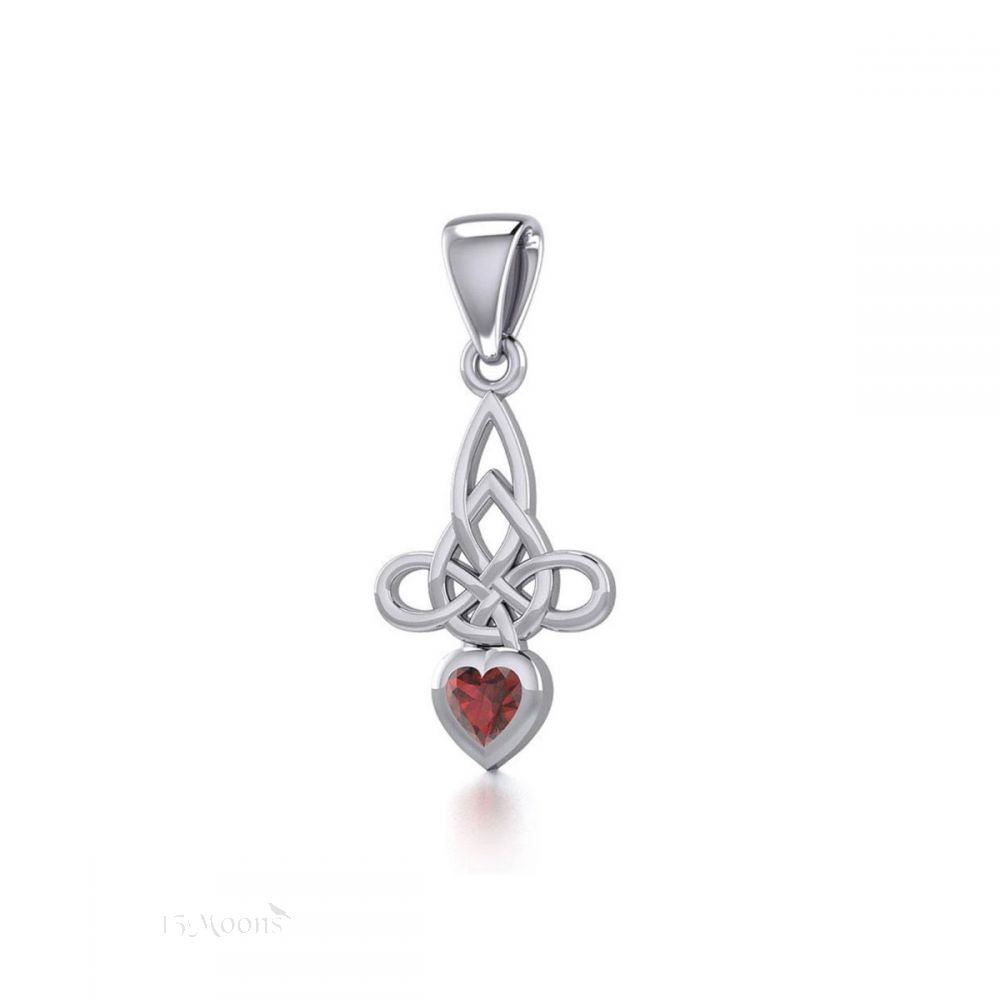 Witches Protection with Garnet Heart