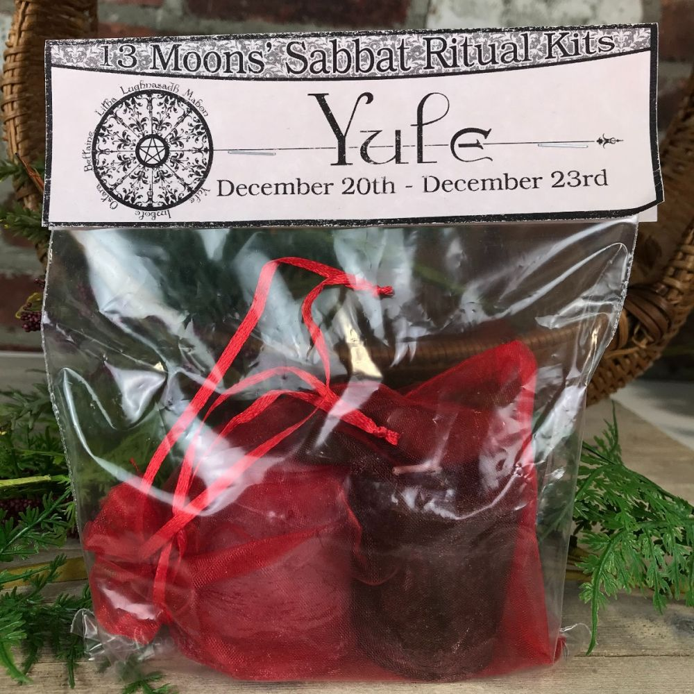 Yule Candle and Stone Set